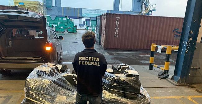Receita Federal apreende mais de 800kg de cocaína no Porto de Salvador