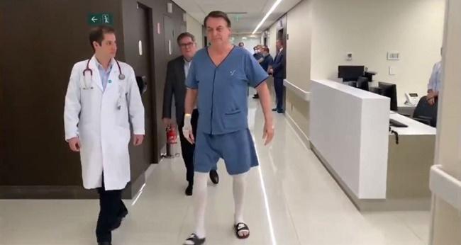 Bolsonaro retira sonda e volta a se alimentar com dieta líquida