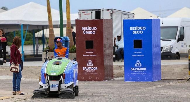 Lixo da Semana do Clima em Salvador é transformado em 250kg de adubo