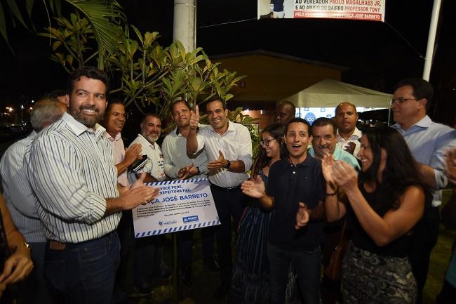 Bruno Reis autoriza obra em encosta de São Caetano e entrega praça na Vila Laura
