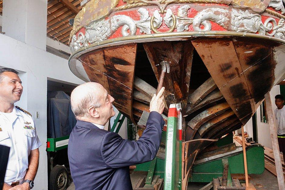 Dom Murilo Krieger lança campanha pela restauração da Galeota Gratidão do Povo