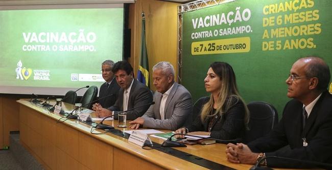 Campanha Nacional de Vacinação contra o Sarampo começa na segunda-feira