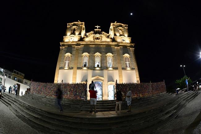 Entorno da Igreja do Bonfim ganha nova iluminação cênica