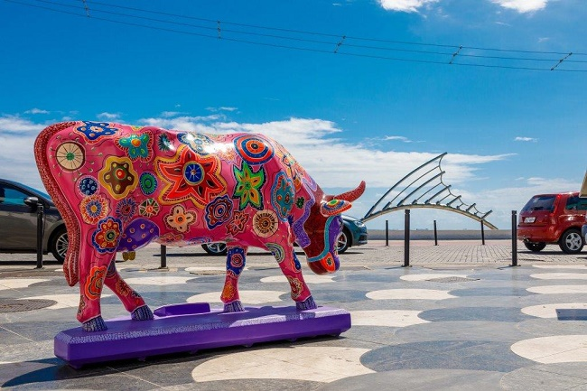 Artistas que pintaram as vacas artísticas da CowParade visitam o Martagão Gesteira
