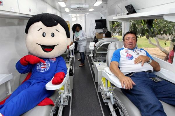 Bahia e Hemoba lançam campanha em parceria para estimular doação de sangue