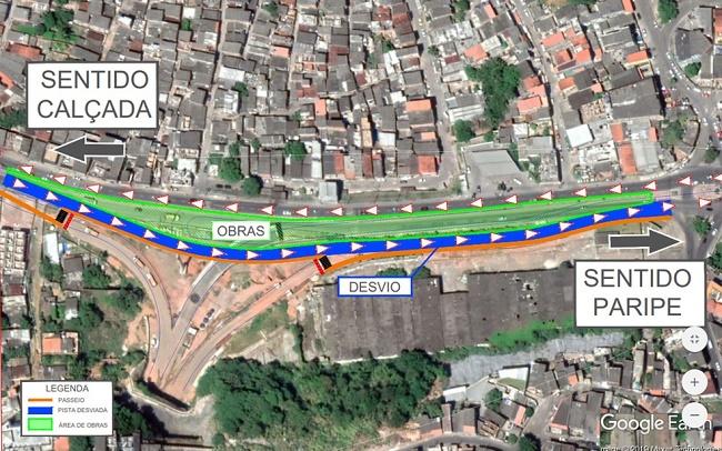Trânsito na Avenida Suburbana será desviado a partir de domingo