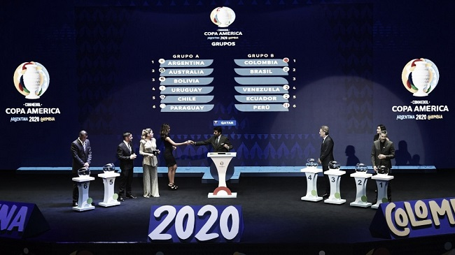 Conmebol define grupos e confrontos da Copa América 2020