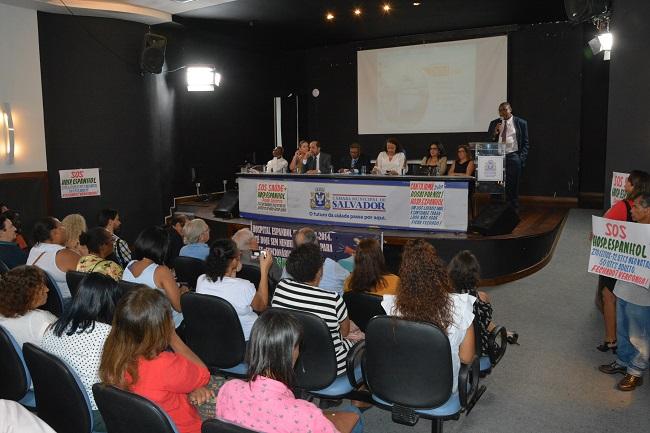 Audiência pública na Câmara de Salvador sobre o Hospital Espanhol termina sem resoluções