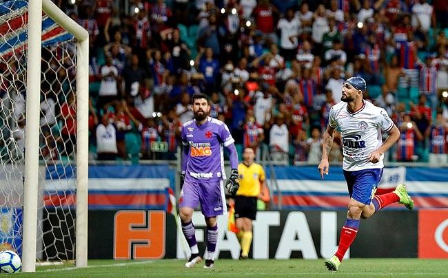 Bahia empata com o Vasco em 1 a 1 na Fonte Nova; veja os gols