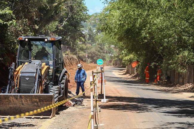 Obras de requalificação avançam na Estrada Velha do Aeroporto