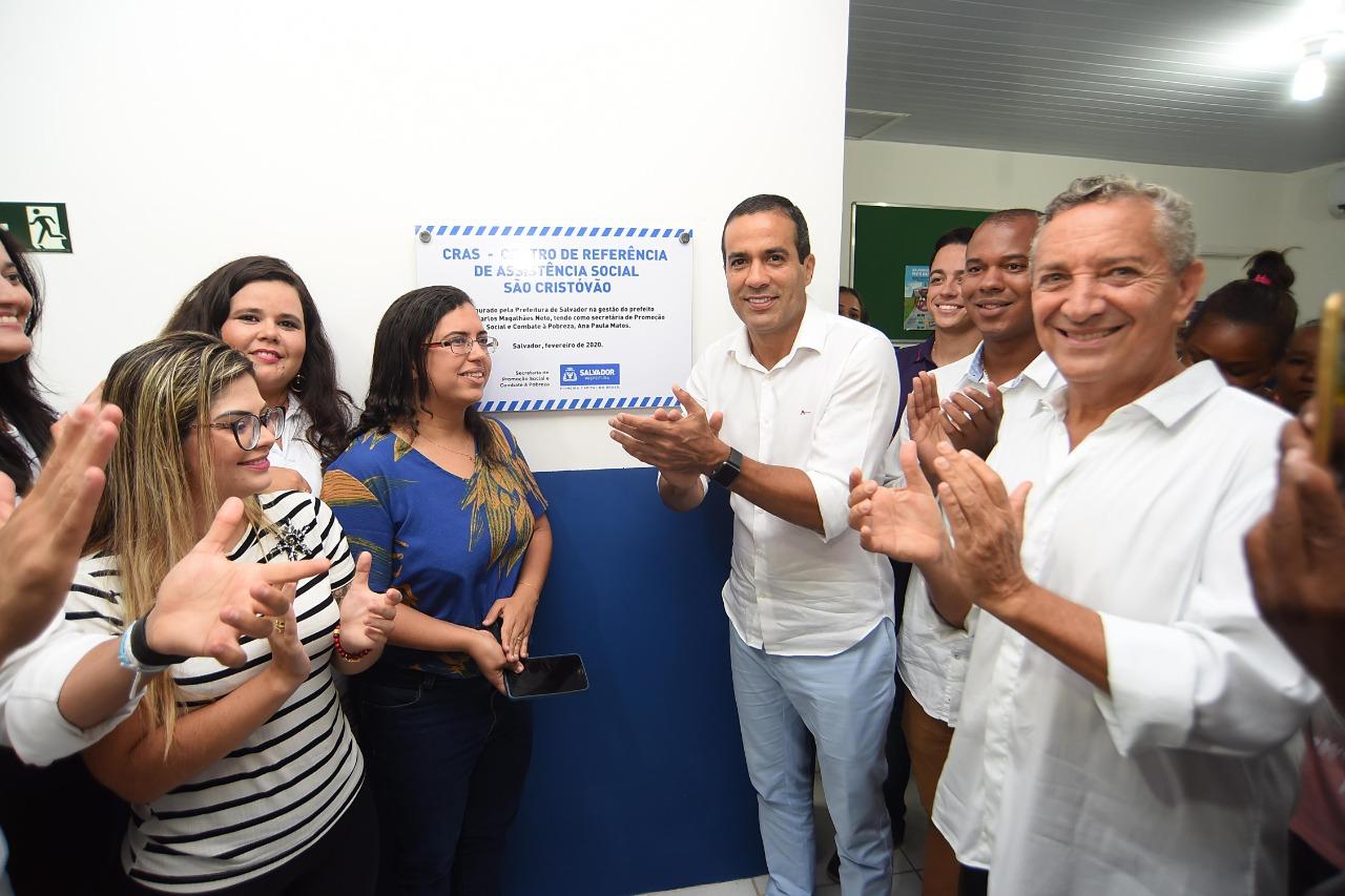 Bruno Reis entrega o CRAS São Cristóvão requalificado