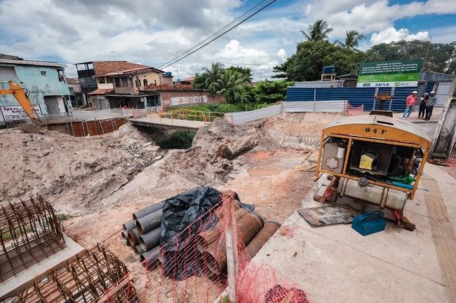 Prefeitura inicia construção de seis pontes na Bacia do Rio Camaçari