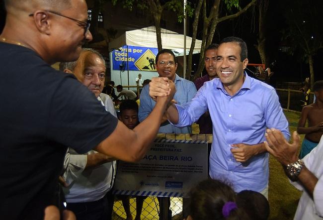 Bruno Reis entrega espaço de lazer e anuncia melhorias no Arenoso