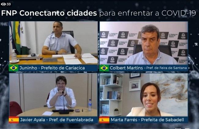 Colbert debate com prefeitos espanhóis ações de combate ao coronavírus