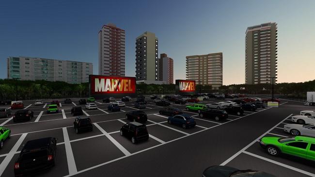 Cine Drive-In Bahia será inaugurado em agosto no Shopping da Bahia