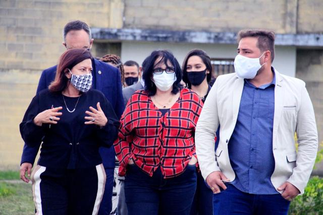Ministra Damares Alves visita unidade da Fundac em Feira