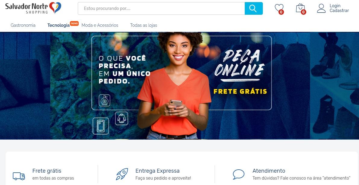 Salvador Norte Shopping lança novo serviço de vendas online