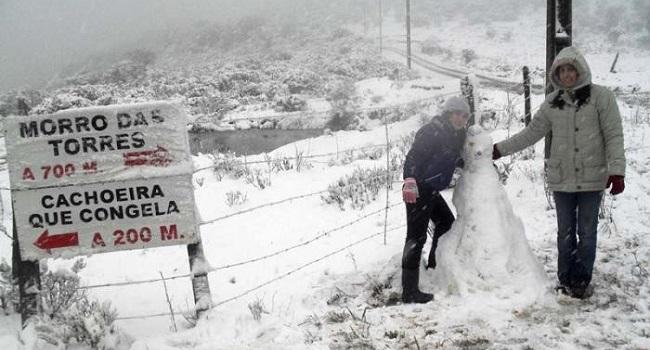 Onda de frio continua no Brasil, mas sem previsão de neve
