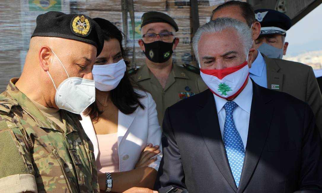 Temer entrega ajuda humanitária do Brasil ao Líbano