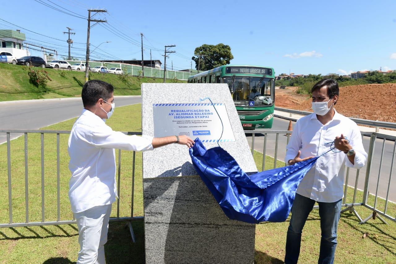 ACM Neto entrega 2ª etapa da requalificação da Estrada Velha do Aeroporto