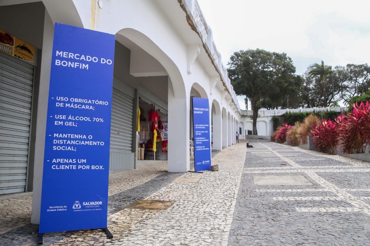 Mercados do Bonfim e das Flores reabrem atendendo a protocolos
