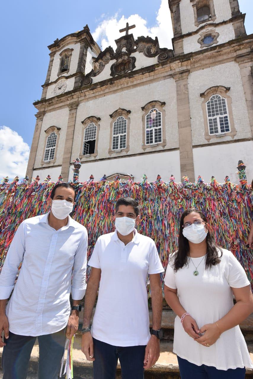 Bruno Reis abre campanha com missa na Basílica do Senhor do Bonfim