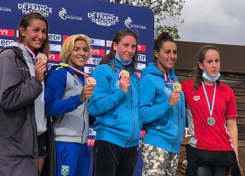 Ana Marcela é bronze no Campeonato Francês de Maratonas Aquáticas