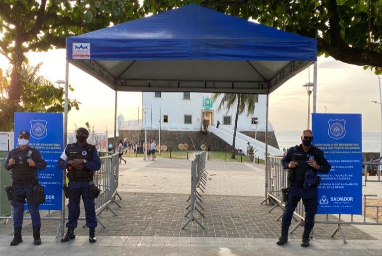 Guarda Municipal organiza Porto da Barra para impedir aglomerações