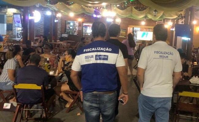 Força-tarefa interdita 13 estabelecimentos em Salvador no final de semana