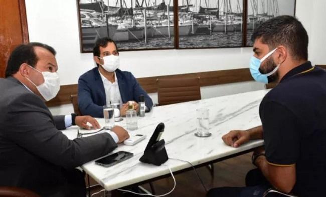 Geraldo Júnior recebe secretário de Turismo de Ibicoara