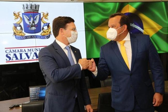 Geraldo Jr. e Júnior Borges pedem apoio de João Roma para prorrogação do REIQ
