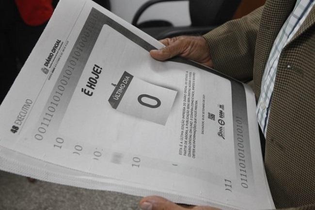 Diário Oficial do Estado passa a ser veiculado apenas em versão digital