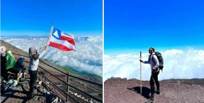 Baiana Marília Novaes atinge o topo do Monte Fuji no Japão