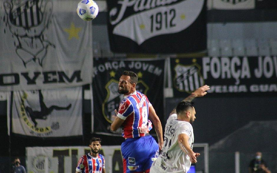 Série A: Santos e Bahia empatam sem gols na Vila Belmiro