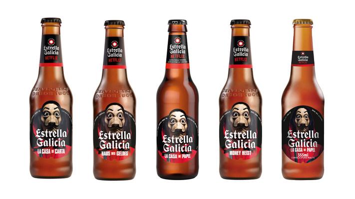 Cervejaria Estrella Galicia cria rótulo em homenagem a La Casa de Papel