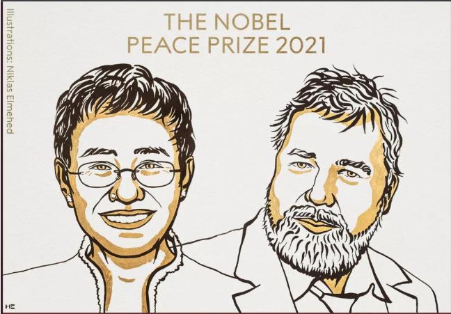 Jornalistas da Rússia e da Filipinas ganham Nobel da Paz 2021