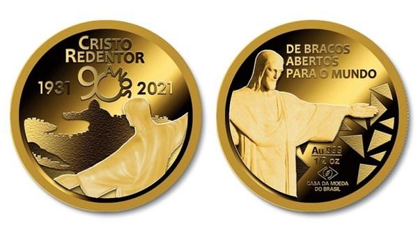 Casa da Moeda lança medalha pelos 90 anos do Cristo Redentor